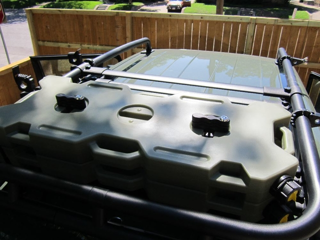 Rotopax On Oem Roof Rack Toyota Fj Cruiser Forum